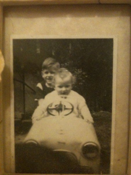 my bro and i - i am in the driving seat (at least